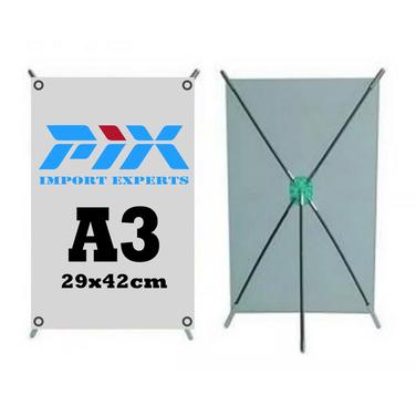 Mini Pendon Tipo X Tamaño A3 + Diseño