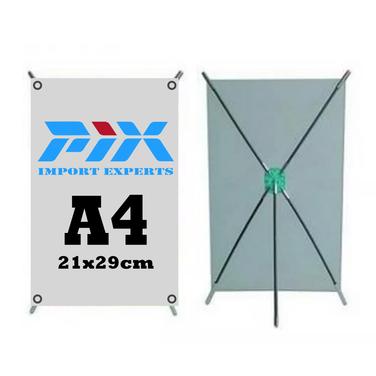 Mini Pendon Tipo X Tamaño A4 + Diseño