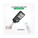 Foco Led Solar 60W + Poste Luminaria Panel C/remoto
