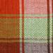 Frazada Aymara cuadros naranjo y verde