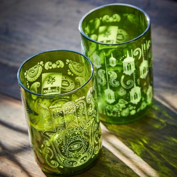 Vasos Green Glass Zanzíbar