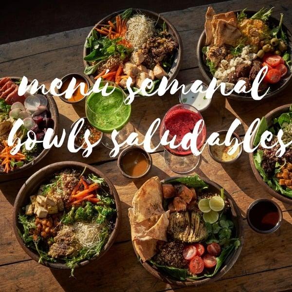 Menú Semanal Bowls Saludables