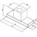 Campana Mueble Glass 90 White - INSERT 90W - Diagrama Medidas Insert 90.JPG