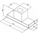 Campana Mueble Glass 60 Black - INSERT 60B - Diagrama Medidas Insert 60.JPG
