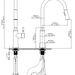 Griferia de Cocina Ares2 Satin - Grifo de Cocina Ares - Dibujo Tecnico.JPG