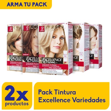 Pack 2 x Tinturas Excellence (arma tu pack)