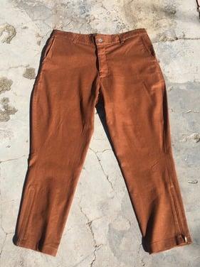 pantalon lino ocre S