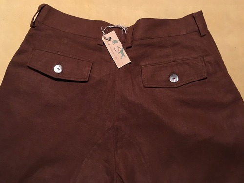 pantalon lino chocolate L