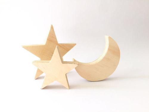 Luna con 3 estrellas
