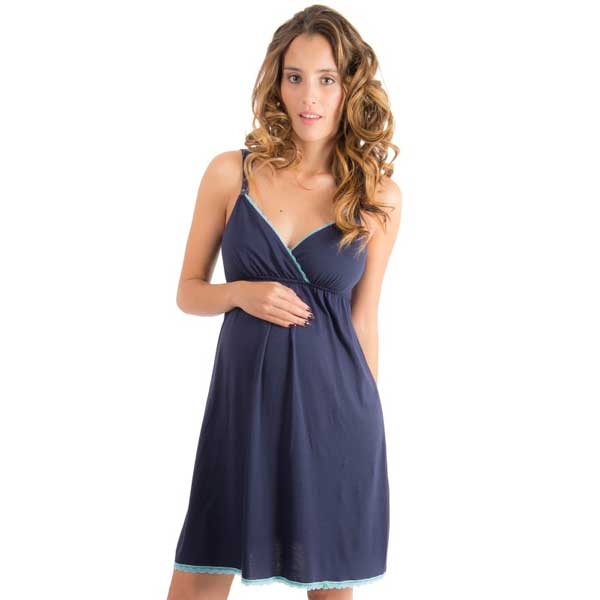57710b6c8 Camisa Dormir Maternal Fernanda (Navy) Madremía - The Mama Store