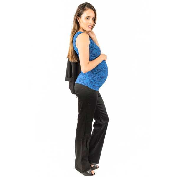 ec360d8fb Pantalon Maternal Beatriz (Negro) Madremía - The Mama Store