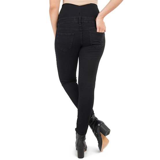 75401d305 Jeans Maternal Pitillo (Negro) Madremía - The Mama Store