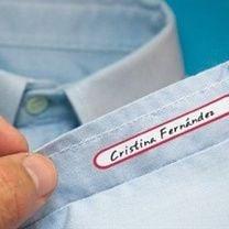 Etiquetas para ropa escribir y planchar (60 unidades)