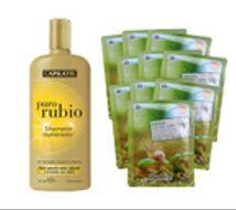 PROMO > Shampoo iluminador Puro Rubio + 10 Máscaras de baba de caracol