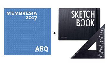Membresía 2017 + Set Sketchbook y Escuadra Design Letters