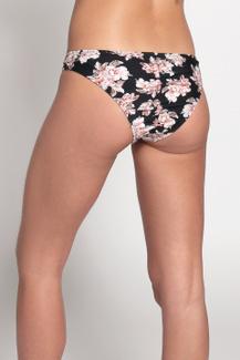 Bikini Elastico Negro Flor