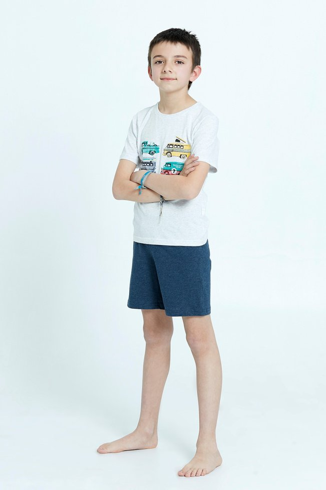 Pijama Tomy Short Kids Azul 212