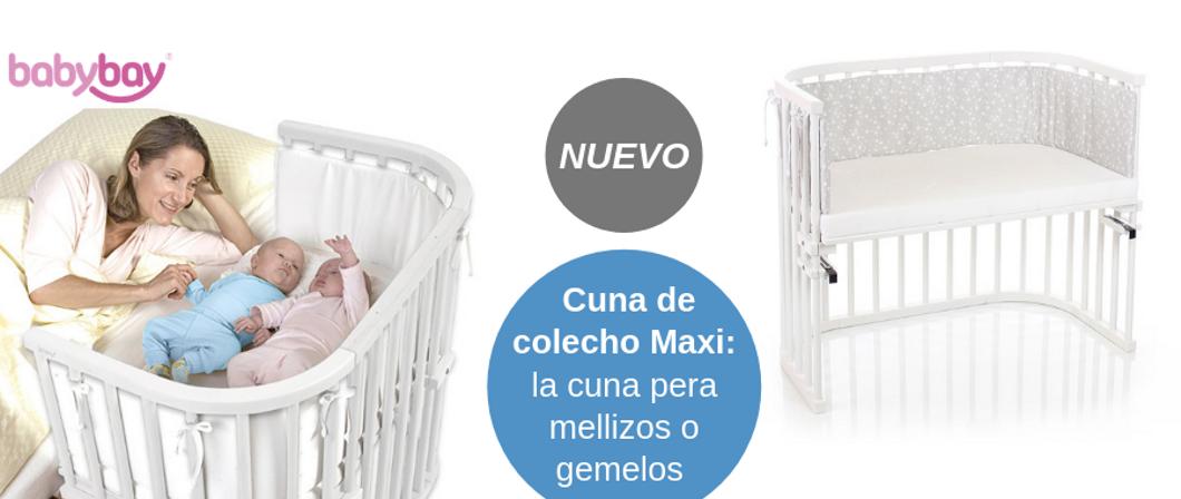 Cuna de colecho Babybay Maxi en color blanco y natural