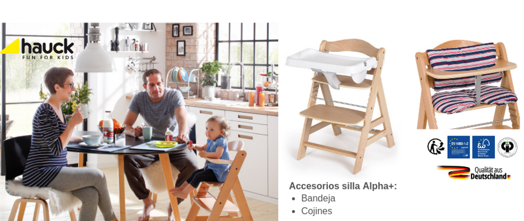 Silla evolutiva Hauck Alpha+ natural