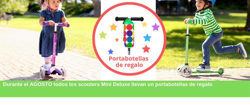 Mini Micro Deluxe Scooter con portabotellas de regalo