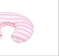 Cojin de lactancia zig zag rosado
