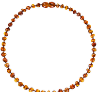 Collar de Ambar color Cognac