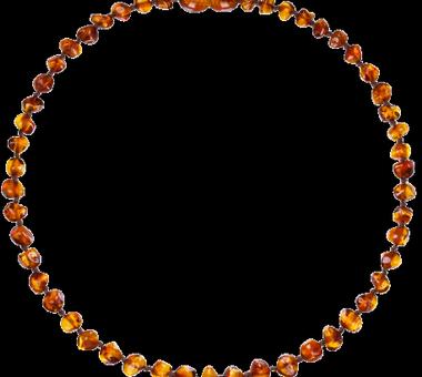 Collar de Ambar color Cognac