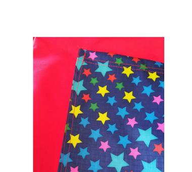 Jardinera rojo  con estrellas T6