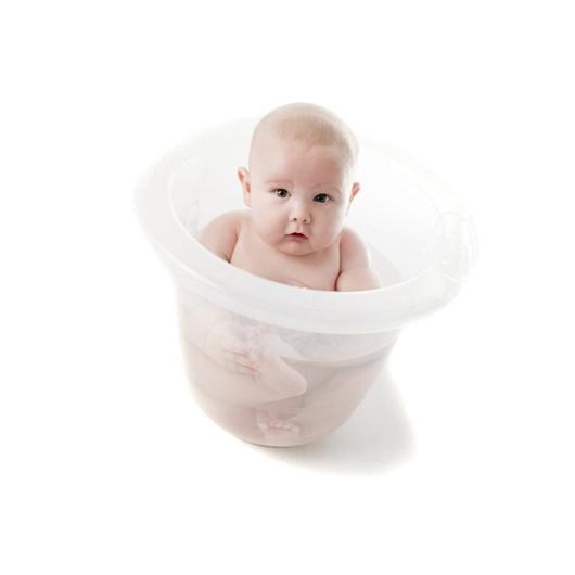 Bañera bebé imita útero (transparente) Tummy Tub