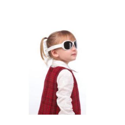Anteojos de sol UV niños Retro (Blanco) Kidz Banz
