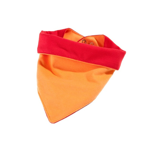 Babero impermeable tela Caracol (Naranjo) Ahí-Tá!