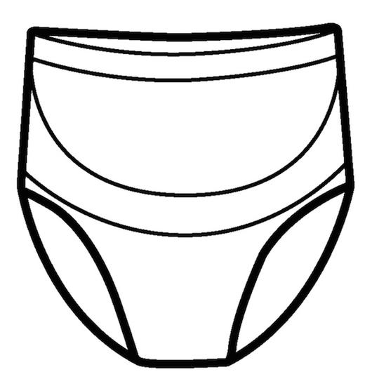 Calzón prenatal apoya abdomen y espalda (Negro) Cantaloop