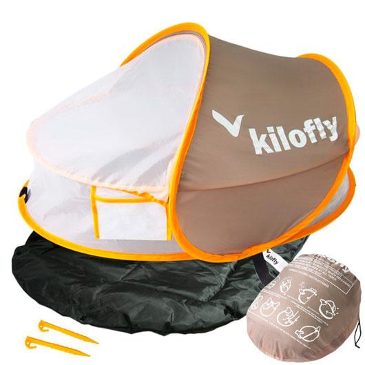 Carpa Corral Pop-up con Filtro UV (Caqui) Kilofly
