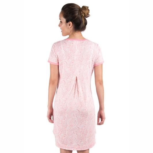 Camisa Maternal Dormir Adriana (Coral) Madremía