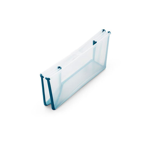 Bañera plegable con Soporte Flexi Bath Transparente / Azul Stokke