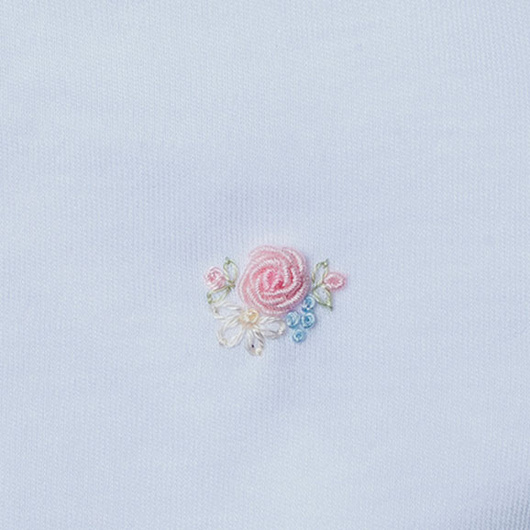 Body Prematuro cruzado bordado a mano (Flor) Lucky Baby