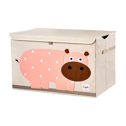 Baúl de juguetes Hipo rosado 3 Sprouts