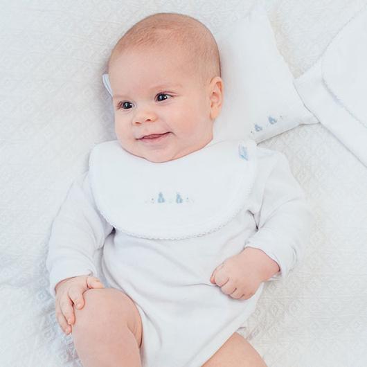 Body recién nacido niño bordado a mano Lucky Baby