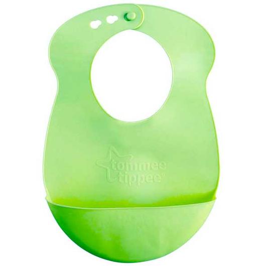 Babero Silicona recoge migas (Verde) Tommee Tippee