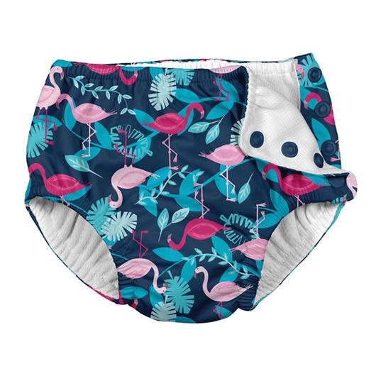 Traje de Baño con pañal Calzón (Flamingo Azul) Iplay