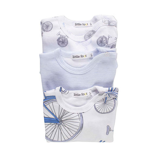 Body Algodón (3 Un) Bicicletas Little Foot