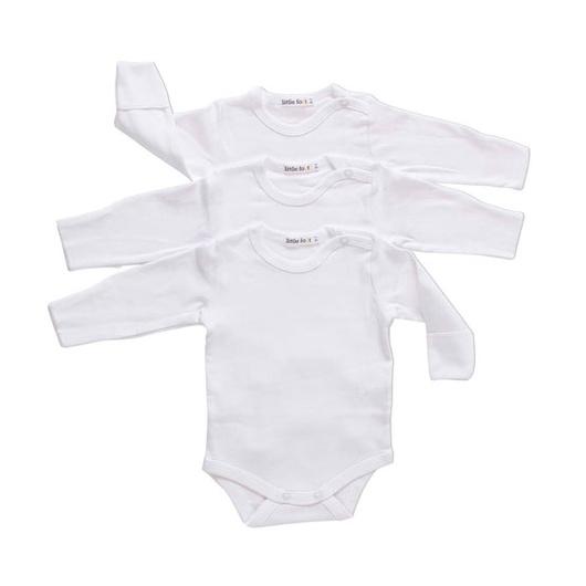 Body Algodón (3 Un) Blanco Little Foot
