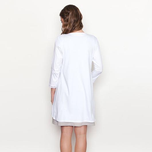 Bata Maternal de algodón (Blanco) Nala Maternity