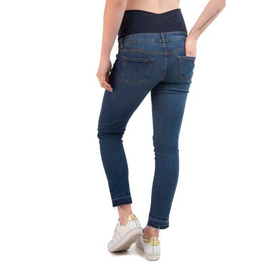 Jeans Maternal Cropped (Blue) Madremía