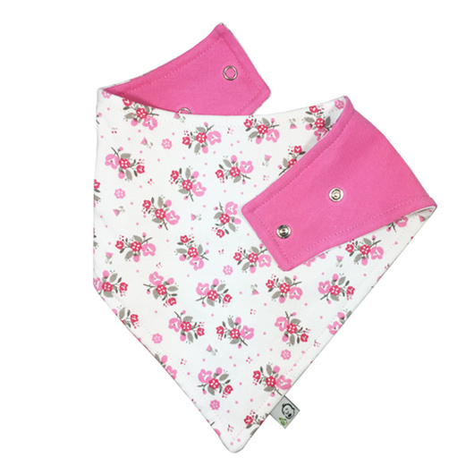 Babero algodón impermeable (Flores) Ahí-Tá!