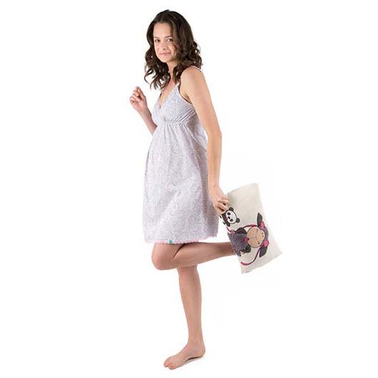 Camisa Dormir Maternal Fernanda (Calabaza Gris) Madremía
