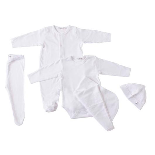 Ajuar Algodón RN (5 Piezas) Blanco Little Foot