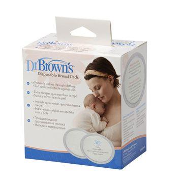 Absorbentes de leche (30 Un) desechables Ovalados Dr. Brown's