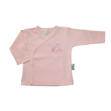 Polera kimono rosada algodón pima orgánico Gea Organika