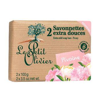 Jabón extra suave Peonía (200 gr.) Le Petit Olivier